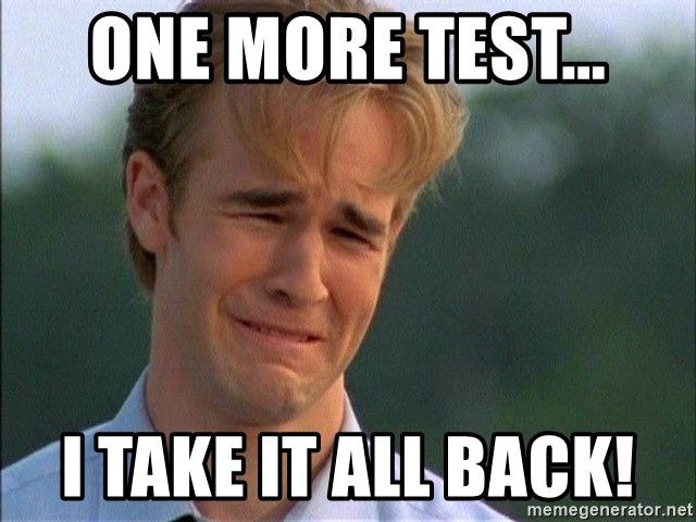Dawson Crying - one more test... I take it all back!