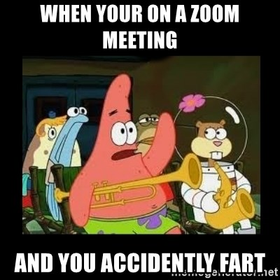 Patrick Star Instrument - when your on a zoom meeting and you accidently fart
