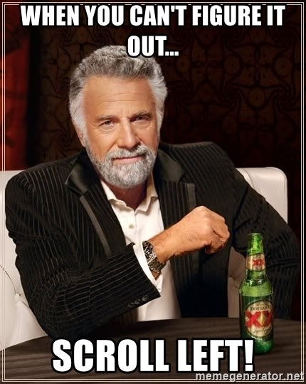 The Most Interesting Man In The World - When you can't figure it out... Scroll left!