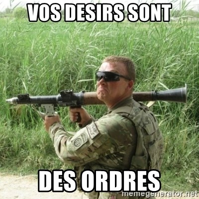 Awkward Army - VOS DESIRS SONT DES ORDRES