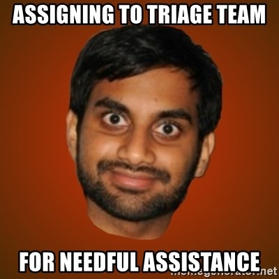 Generic Indian Guy - Assigning to triage team for needful assistance