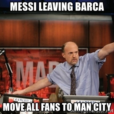 Jim Kramer Mad Money Karma - Messi leaving Barca Move all fans to Man City