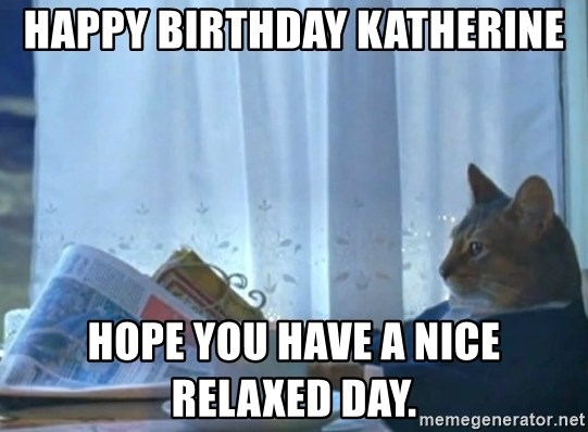 newspaper cat realization - Happy Birthday Katherine Hope you have a nice relaxed day.