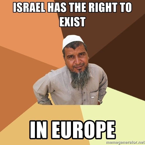 Ordinary Muslim Man - Israel has the right to exist in Europe