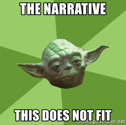 Advice Yoda Gives - The narrative this does not fit