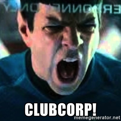 Spock screaming Khan - CLUBCORP!