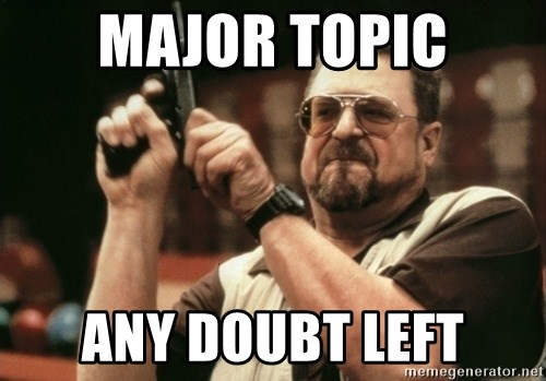 Walter Sobchak with gun - Major Topic Any Doubt Left