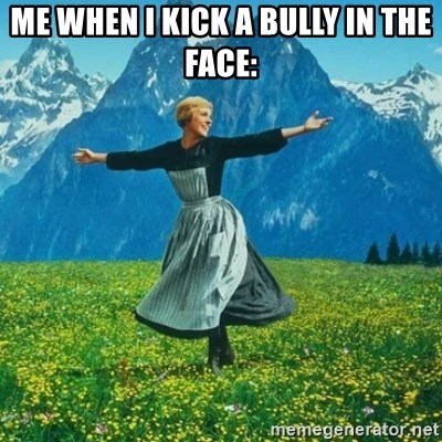 Look at All the Fucks I Give - Me when I kick a bully in the face: