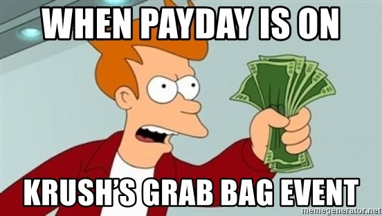 Shut up and take my money Fry blank - When payday is on  Krush's grab bag event