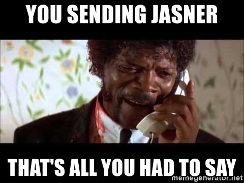 Pulp Fiction sending the Wolf - You Sending Jasner That's all you had to say