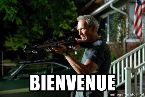 Clint Eastwood Get Off My Lawn - Bienvenue