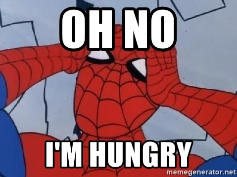 Scared Spider Dude - oh no i'm hungry