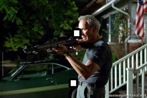 Clint Eastwood Get Off My Lawn - . .