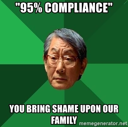 "High Expectations Asian Father - ""95% Compliance"" You bring shame upon our family"