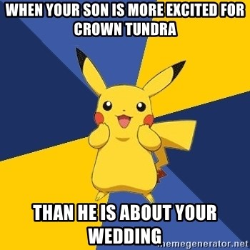 Pokemon Logic  - When your son is more excited for Crown Tundra  Than he is about your wedding