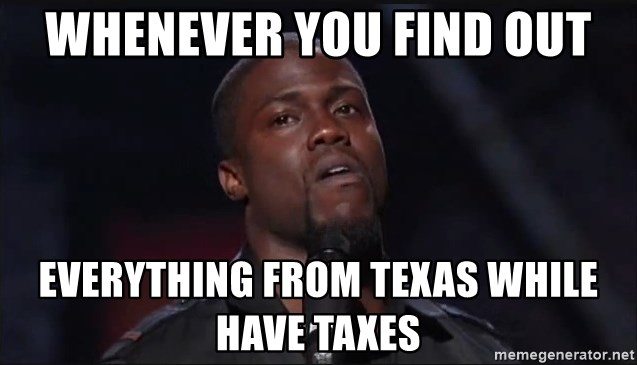 Kevin Hart Face - whenever you find out everything from texas while have taxes
