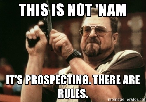 Walter Sobchak with gun - This is not 'Nam it's prospecting. there are rules.