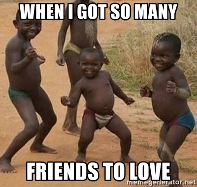 Happy african kids - when i got so many friends to love