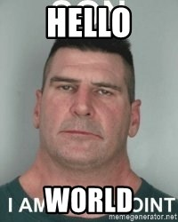 son i am disappoint - hello world