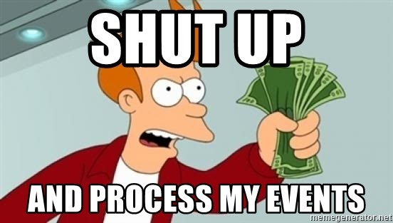 Shut up and take my money Fry blank - Shut up And process my events