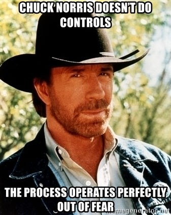 Brutal Chuck Norris - Chuck Norris doesn't do controls The process operates perfectly out of fear