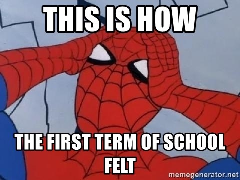 Scared Spider Dude - This is how The first term of school felt