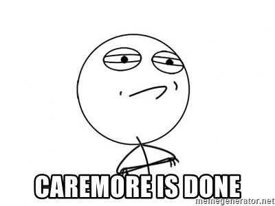 Challenge Accepted - Caremore is done
