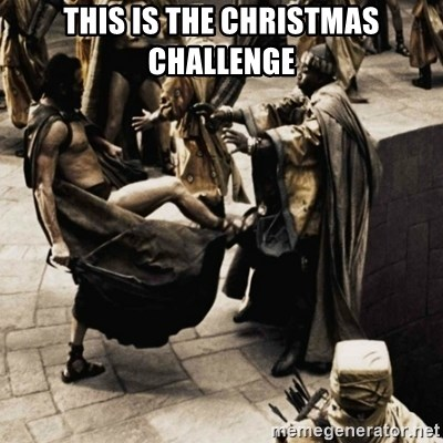 sparta kick - this is the Christmas challenge