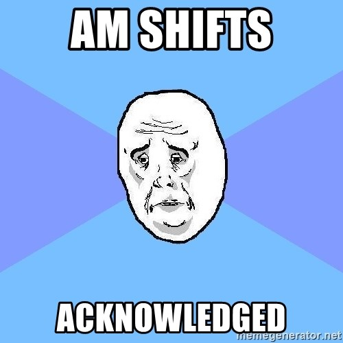Okay Guy - Am shifts Acknowledged