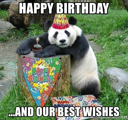 Happy Birthday Panda - Happy Birthday ...and our best wishes