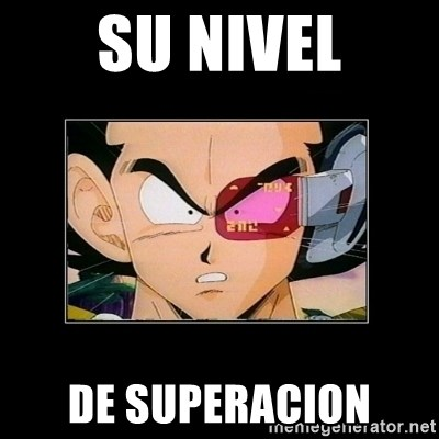 Su nivel de Vegeta - su nivel de superacion