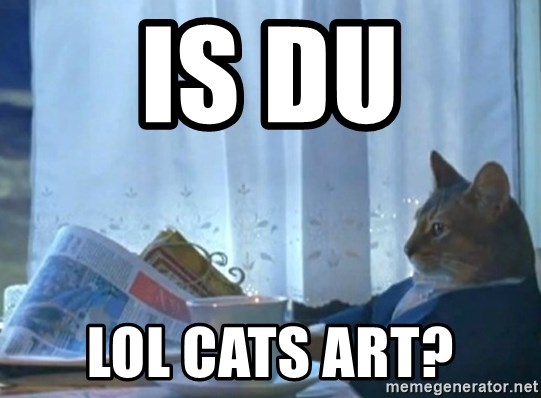 newspaper cat realization - is du lol cats art?