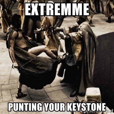 sparta kick - extremme punting your keystone