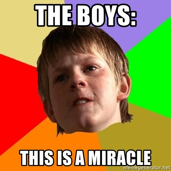 Angry School Boy - The boys: This is a miracle