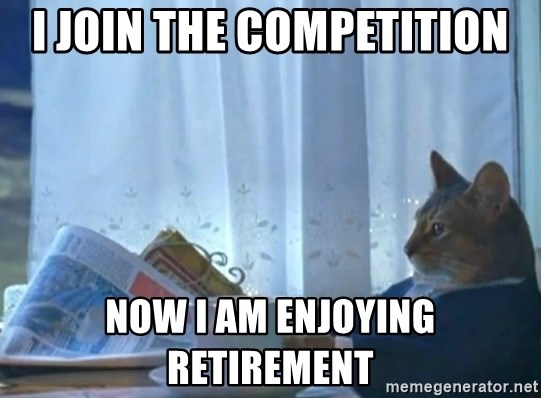 newspaper cat realization - I join the competition now i am Enjoying retirement