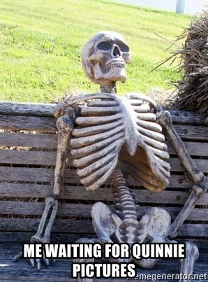 Waiting Skeleton - Me waiting for Quinnie pictures