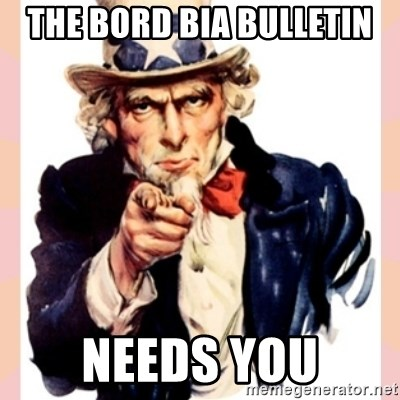 we need you - The Bord Bia Bulletin Needs You