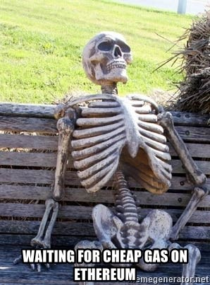 Waiting Skeleton - waiting for cheap gas on Ethereum