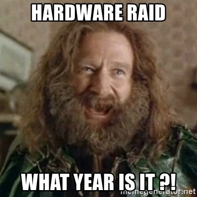 What Year - hardware raid what year is it ?!