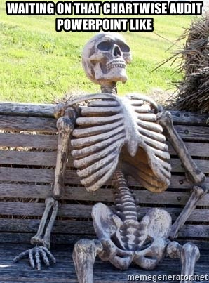 Waiting Skeleton - Waiting on that ChartWise audit PowerPoint like