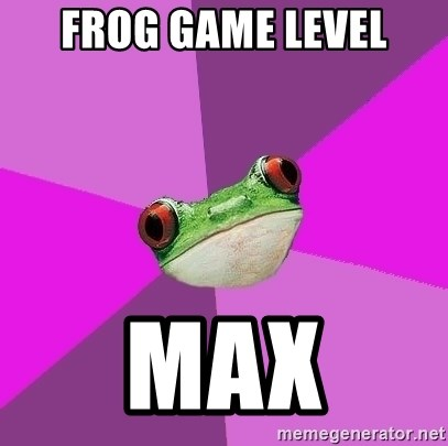 Foul Bachelorette Frog - Frog game level MAX