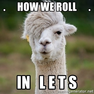 Hipster Llama - .      How We Roll      . in   L E T S