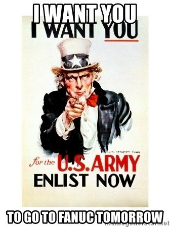 I Want You - I Want You To go to Fanuc Tomorrow