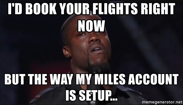 Kevin Hart Face - I'd book your flights right now But the way my miles account is setup...