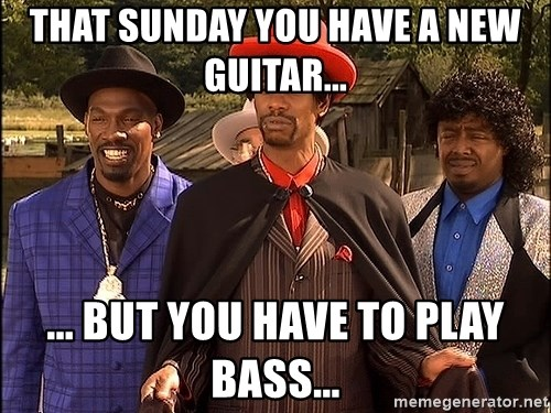 Dave Chappelle Player Haters - That Sunday you have a new guitar... ... But you have to play bass...