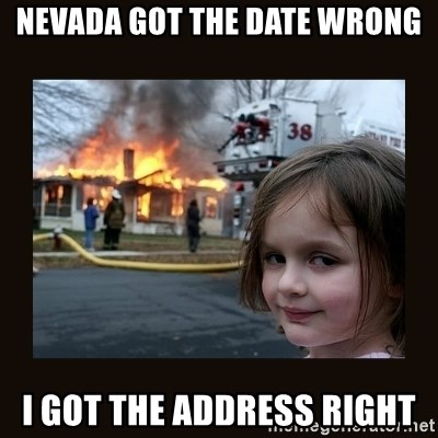 burning house girl - Nevada got the date wrong I got the address right