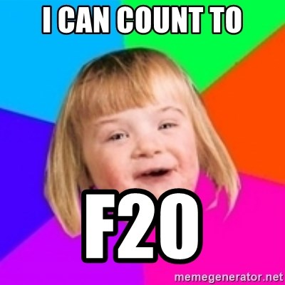 I can count to potato - I can count to F20