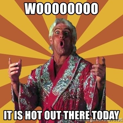 Ric Flair - WOOOOOOOO It is hot out there today