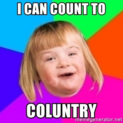 I can count to potato - I can count to  coluntry