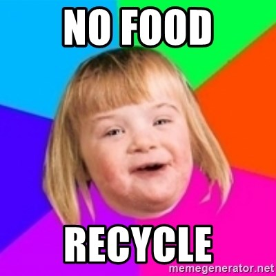 I can count to potato - No Food Recycle